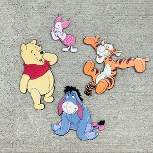 Winnie the Pooh and friends wood wall hangings